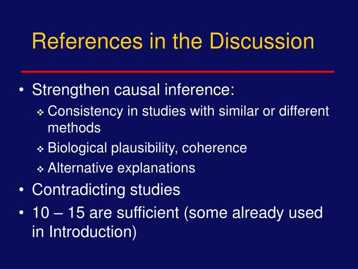 References in the Discussion