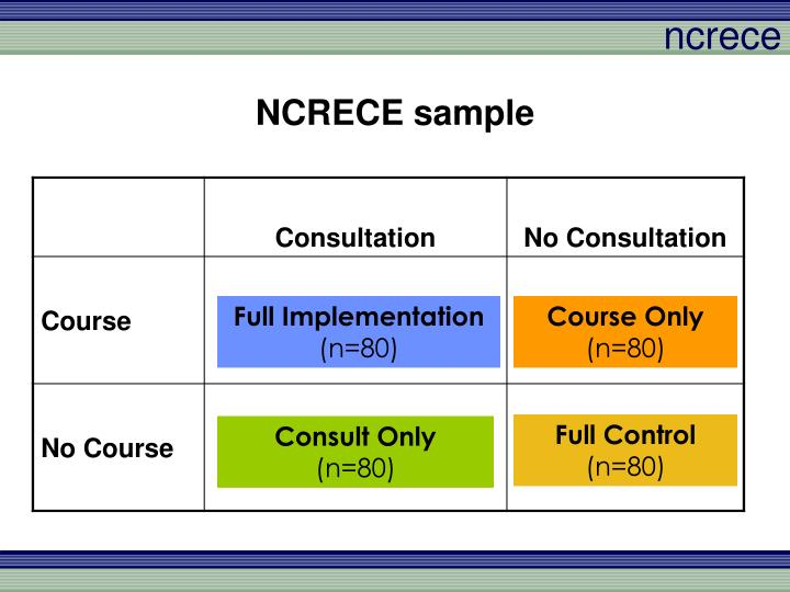 NCRECE sample