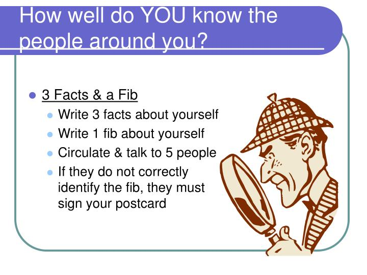 How well do you know the people around you