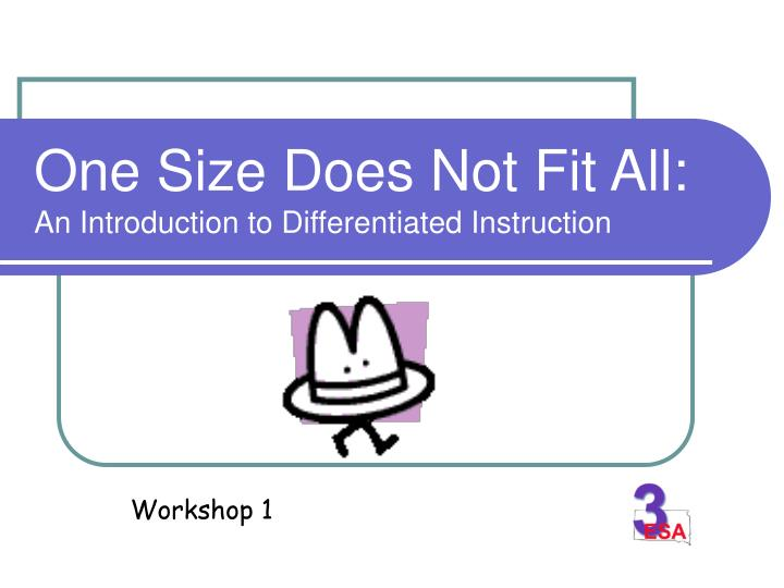 One size does not fit all an introduction to differentiated instruction