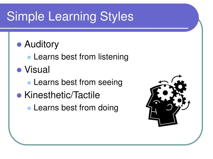 Simple Learning Styles