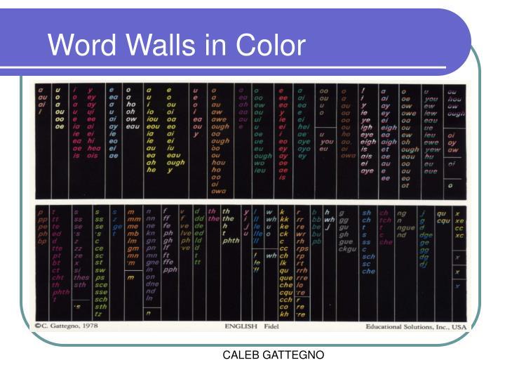 Word Walls in Color