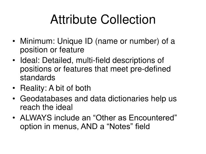 Attribute Collection