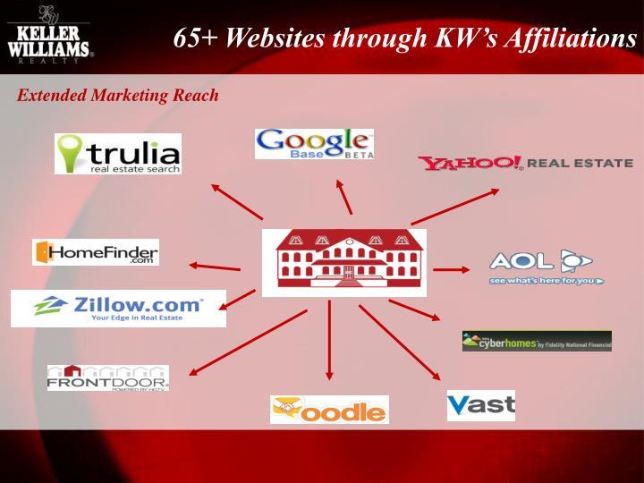 65+ Websites through KW's Affiliations