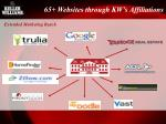 65 websites through kw s affiliations