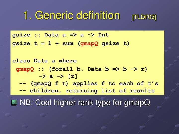 1 generic definition tldi 03