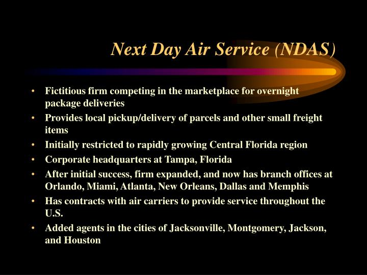 next day air service ndas