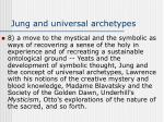 jung and universal archetypes