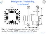 design for testability continued