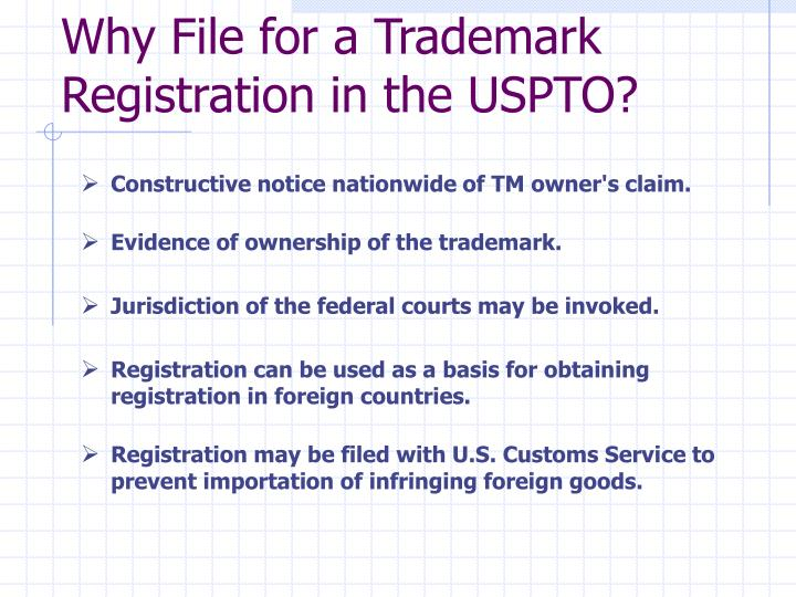 Why file for a trademark registration in the uspto