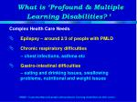 what is profound multiple learning disabilities3