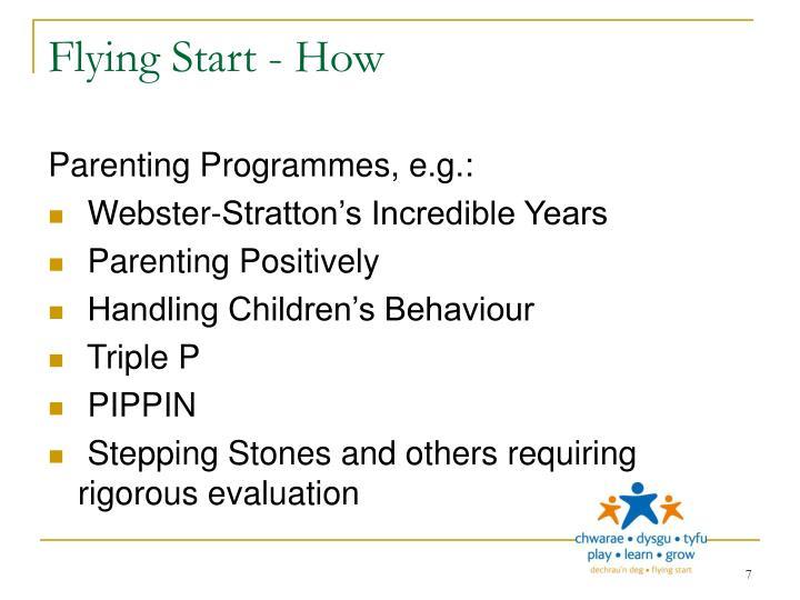 Flying Start - How