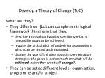 develop a theory of change toc