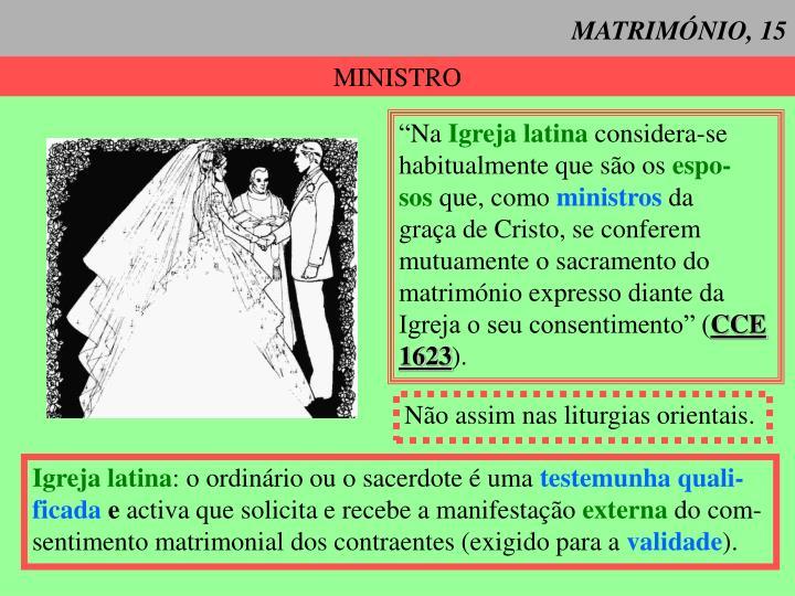 MATRIMÓNIO, 15