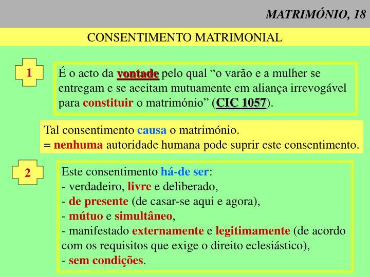 MATRIMÓNIO, 18