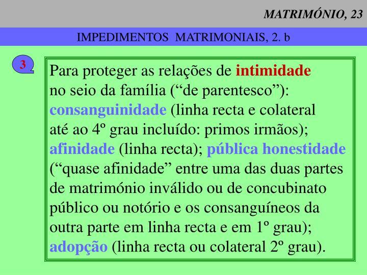 MATRIMÓNIO, 23