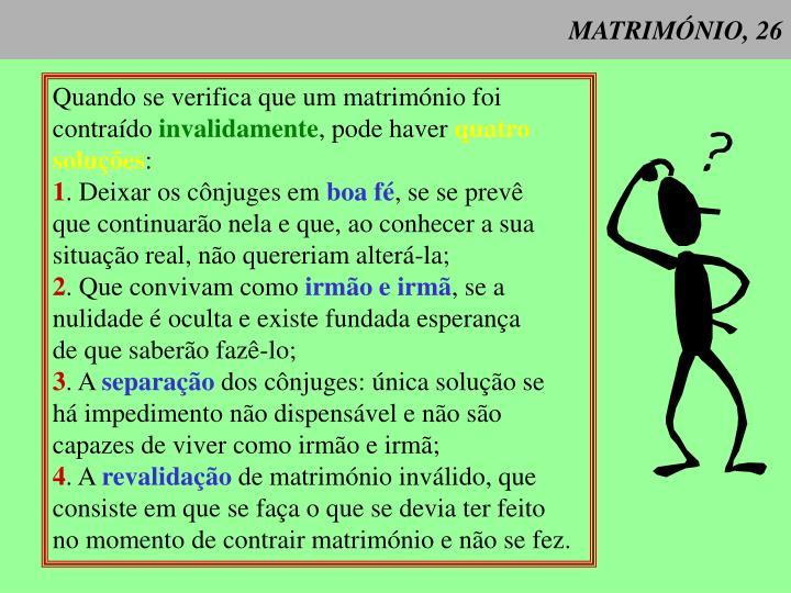 MATRIMÓNIO, 26