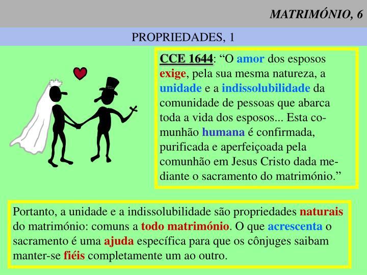 MATRIMÓNIO, 6