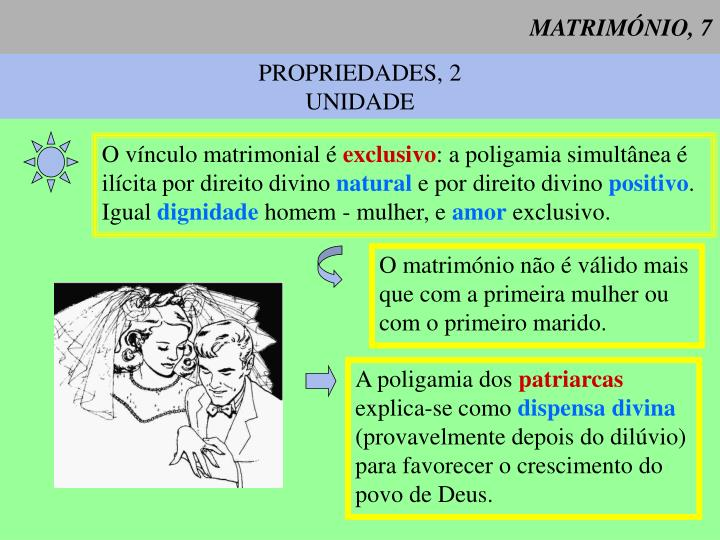 MATRIMÓNIO, 7
