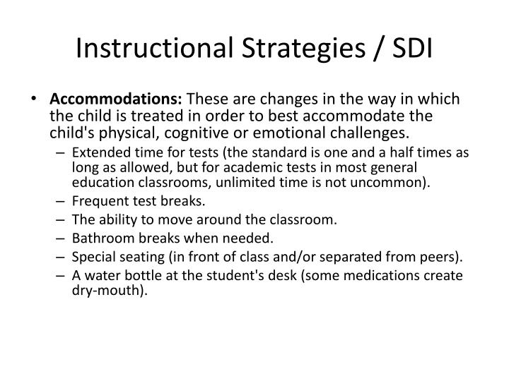 Instructional Strategies / SDI
