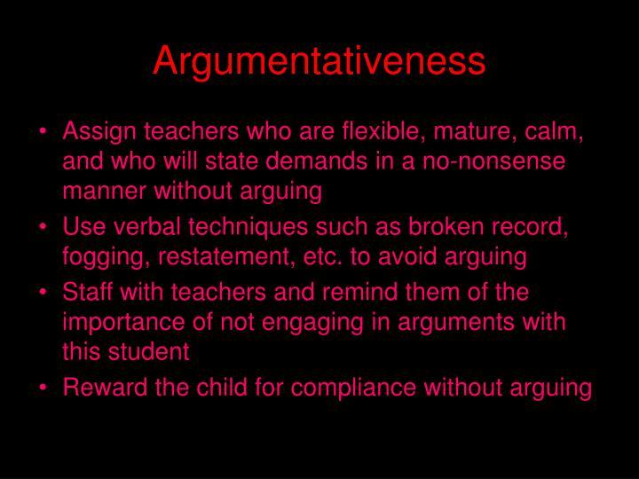 Argumentativeness