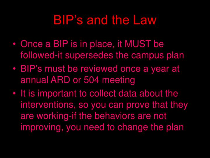 BIP's and the Law