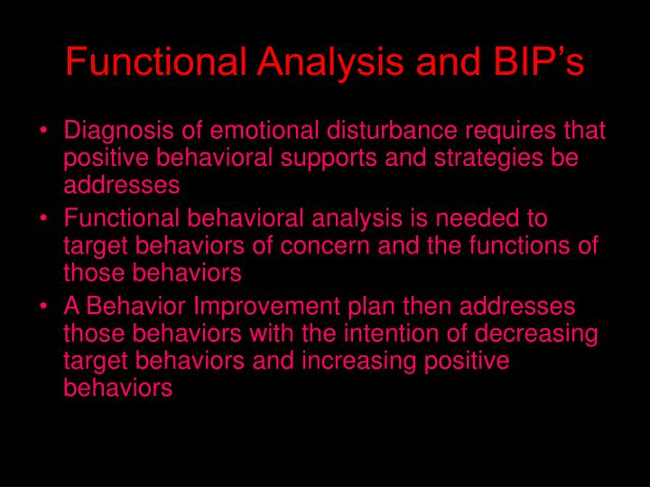 Functional Analysis and BIP's