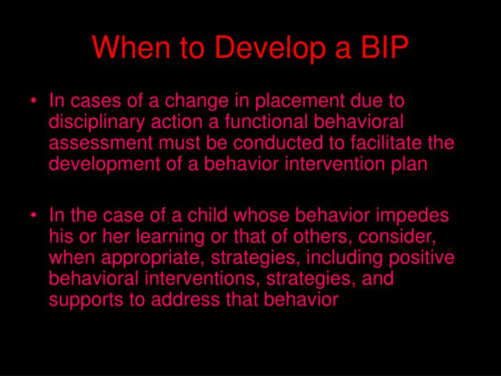 When to Develop a BIP
