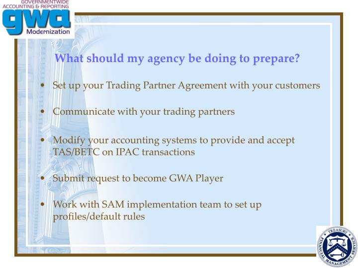 What should my agency be doing to prepare?