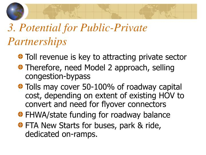 3. Potential for Public-Private Partnerships