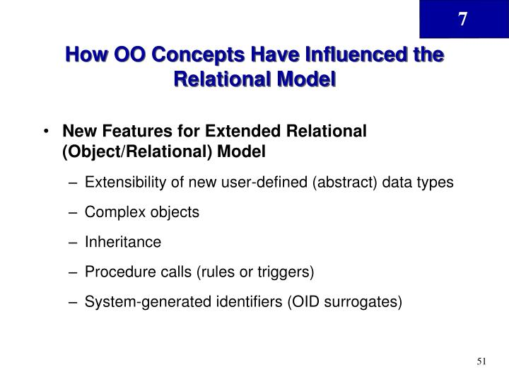 How OO Concepts Have Influenced the Relational Model