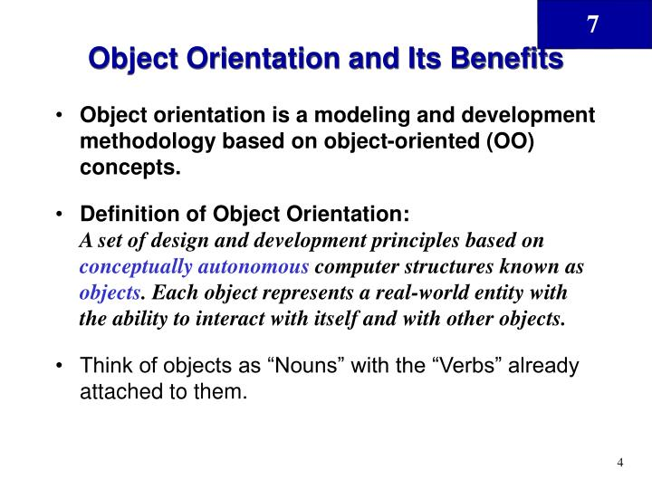 Object Orientation and Its Benefits