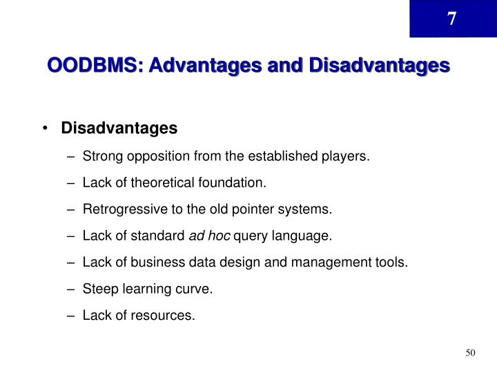 OODBMS: Advantages and Disadvantages