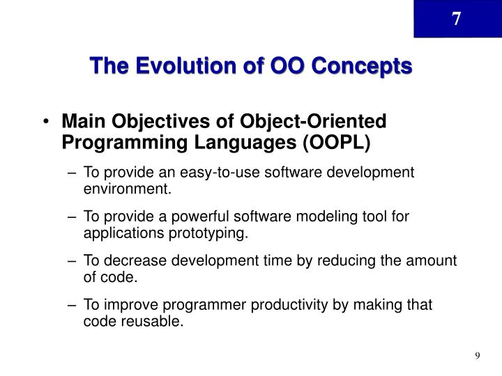 The Evolution of OO Concepts