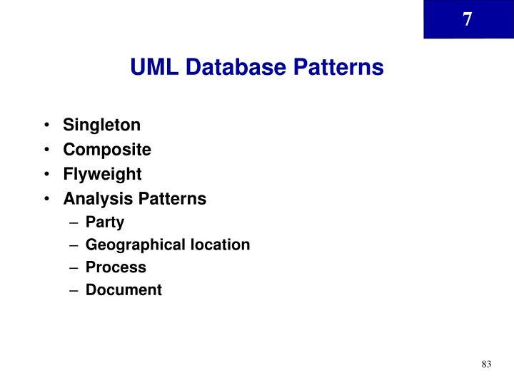 UML Database Patterns
