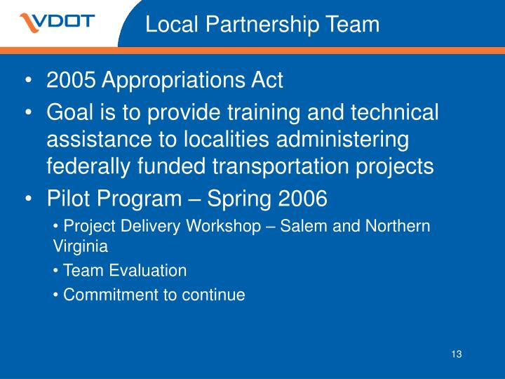 Local Partnership Team