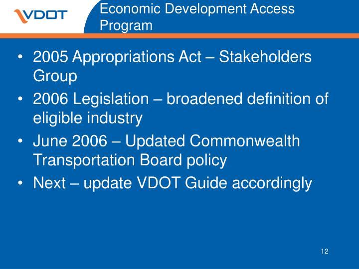 Economic Development Access Program
