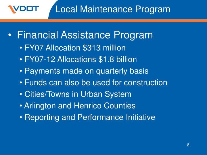 Local Maintenance Program
