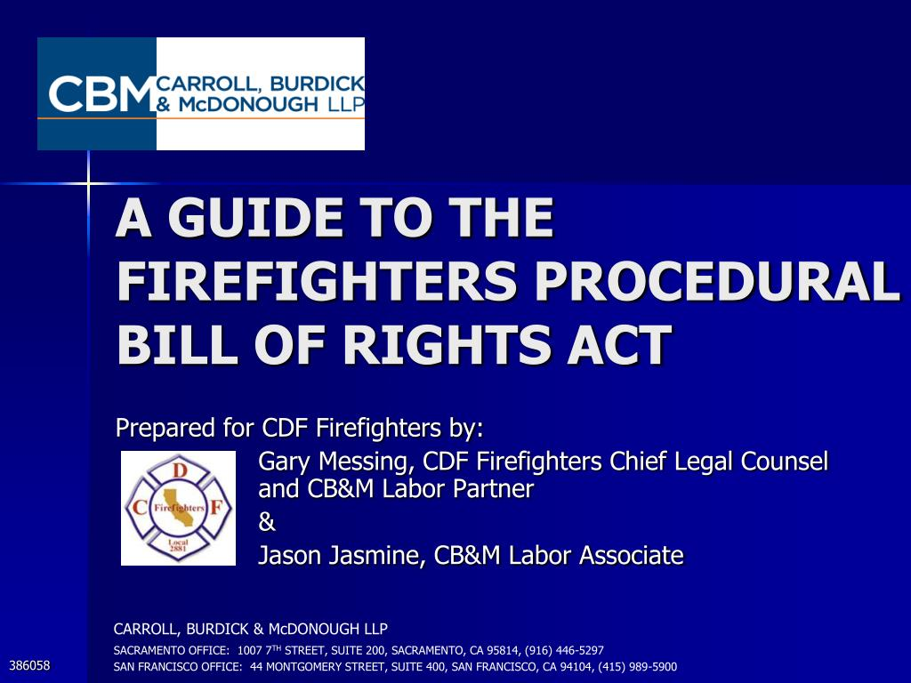 ppt a guide to the firefighters procedural bill of rights act