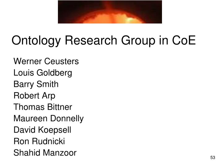 Ontology Research Group in CoE