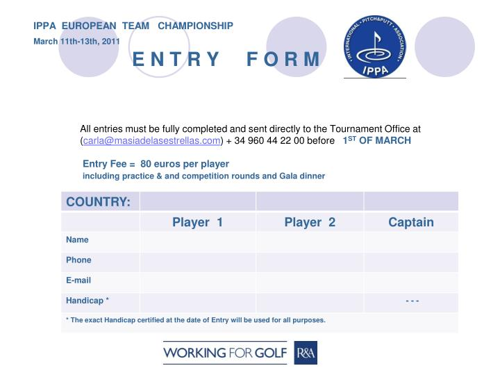 IPPA  EUROPEAN  TEAM   CHAMPIONSHIP