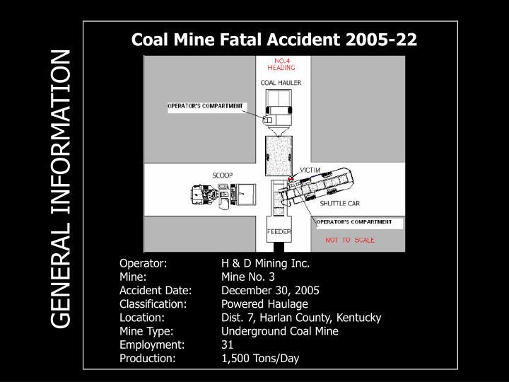Coal Mine Fatal Accident 2005-22