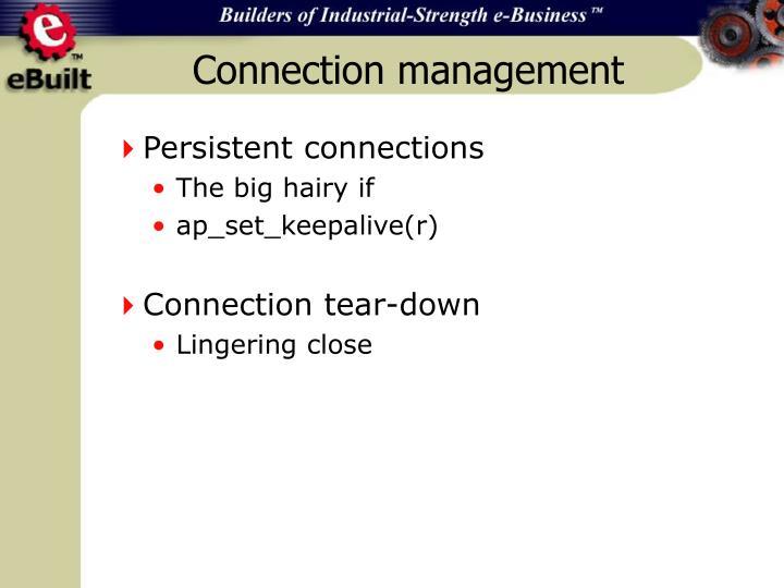 Connection management