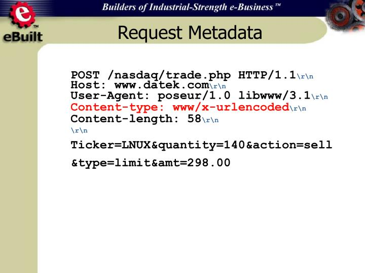 Request Metadata
