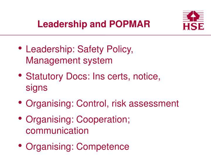 Leadership and POPMAR