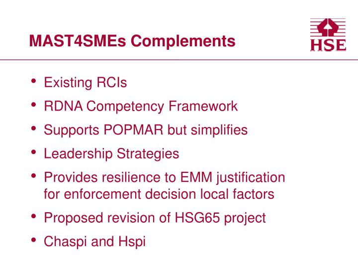 Mast4smes complements