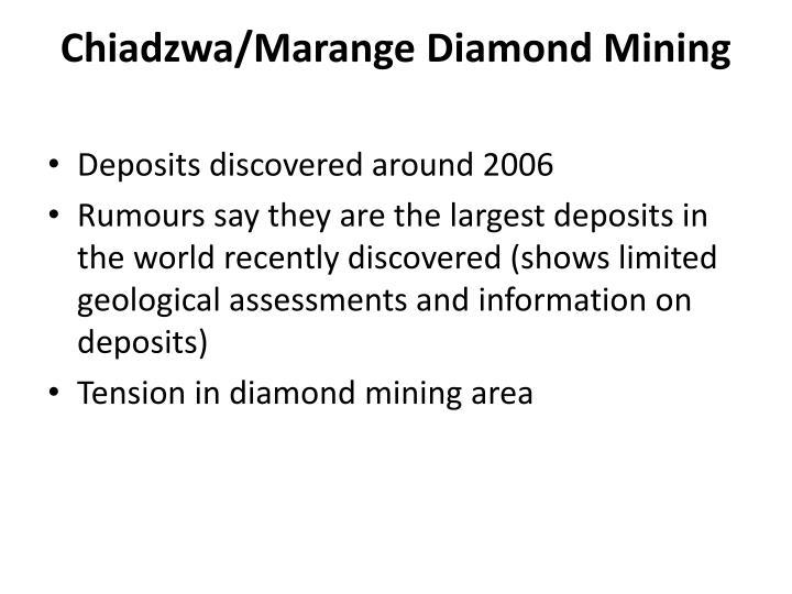 Chiadzwa/Marange Diamond Mining