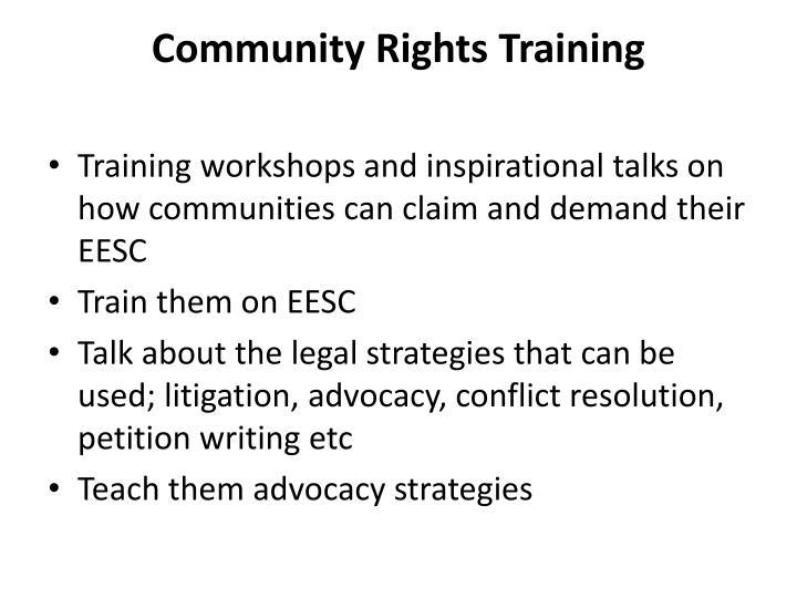 Community Rights Training
