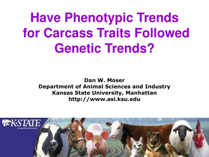 have phenotypic trends for carcass traits followed genetic trends n.