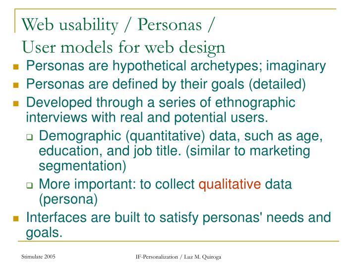 Web usability / Personas /